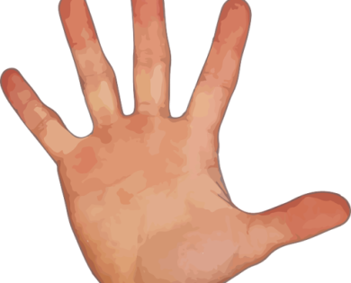 5 Punkte hand